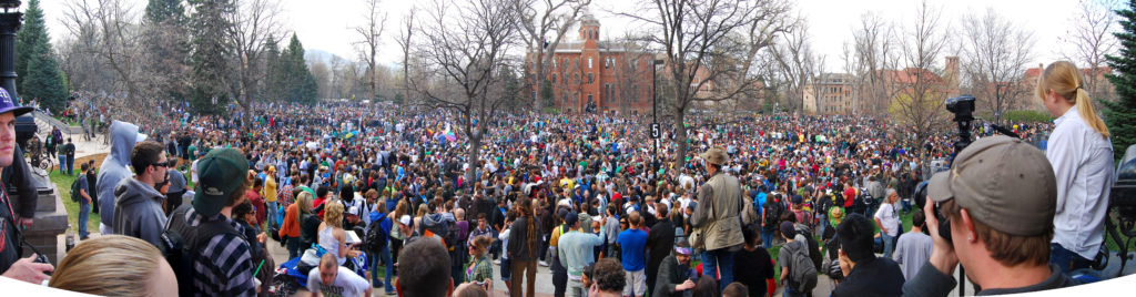 this is a typical crowd shot of a 4/20 event